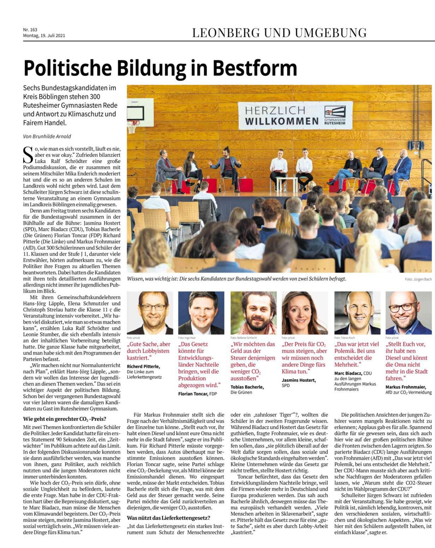 2021 07 19 Politische Bildung in Bestform
